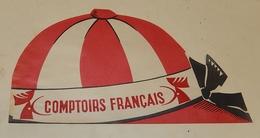 Ancienne Casquette Publicitaire : COMPTOIRS FRANCAIS - Type TOUR De FRANCE - Caps