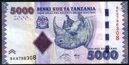 Tanzania 5000 Shilingi ND 2011 VF - Tanzanie
