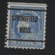 USA  870 SCOTT 476--MICHEL 237K SPRINGFIELD MASS. - Estados Unidos