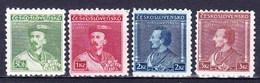 Tchécoslovaquie 1932 Mi 314-7 (Yv 277-80), (MH)* - Unused Stamps