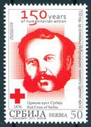 Serbia 2013  150 Years Anniversary International Committee Red Cross, ICRC, Henry Dunant, MNH