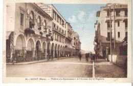 """MAROC   RABAT    Théâtre """" La Renaissance"""" Et Avenue Dar El Maghzen - Rabat"""