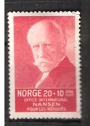 Norway 1935 Fritjof Nansen Fonds For Refugees, Mi 174,  Unused