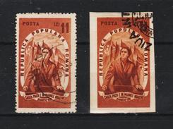 1951, Journee Int. De La Femme  Mi No 1254A+B Et Yv No 1149+1149a