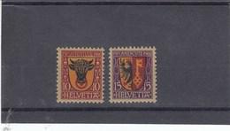 Suisse - Neufs* Charnières  -  Pro Juventute - Année 1918 - YT 168/169