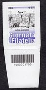 2015 GIORNATA DELLA FILATELIA NELLE CARCERI  0,95C. CODICE A BARRE MNH** AUTOADESIVO - 6. 1946-.. República