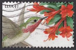 4154 Stati Uniti 2007 Pollination Hummingbird Trumpet - Calliope  Viaggiato Used USA - Usati