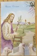 BUONA PASQUA - Frohe Ostern - Happy Easter - Bonnes Pâques Italy Gesù Jesus Sheeps - Pasqua