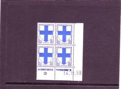 N° 1180 - 50c Blason De MARSEILLE - B De A+B - Tirage Du 13.10.58 Au 21.10.58 - 14.10.1958 - - Angoli Datati