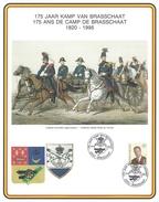 Herdenkingskaart 175 Jaar Kamp Van Brasschaat 1820-1995 - Belgique