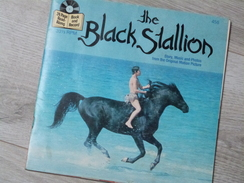 LIVRE DISQUE 45 TOURS.THE BLACK STALLION. DISNEYLAND. 25 PAGES.1982. - Children's