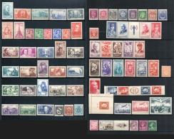 FRANCE Collection Timbres 1939 à 1949 Neufs Sans Charnière - COTE 1.060 €