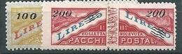 San Marino, Pacchhi Postali, Sassone 33/34** Certificato Raybaudi - Pacchi Postali