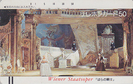 Télécarte Ancienne Japon / 110-4184 - MUSIQUE - OPERA - ROSENKAVALIER By STRAUSS - Japan Front Bar Phonecard / A AUSTRIA