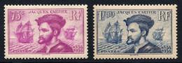 N°296/297, Jacques Cartier 1934, Neuf ** Sans Charnière - COTE 300 €