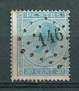 18 Gestempeld PT 146 GERPINNE - COBA 12,00 - 1865-1866 Profile Left