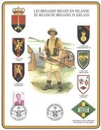 Speciale Herdenkingskaart De Belgische Brigades In Ierland - Belgique
