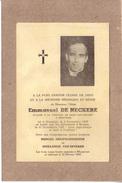 AVIS DE DECES - BELGIQUE - ABBE EMMANUEL DE NECKERE , NE A MESSINES , VICAIRE A MOUSCRON , MORT A BRUGES EN 1942 - Décès