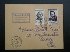 1132-1134  Du 4/10/1958 Salon De L'automobile  PARIS Pour  BOURGES - Storia Postale