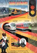 Burundi Block Eisenbahn In Deutschland ** / MNH - Trains