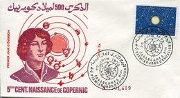 18404  Morocco,  Fdc 1973  Kopenikus, Copernic, Kopernika - Astronomùia