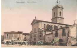 Marseillan L'église Et Marché - Marseillan