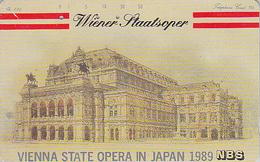 Rare Télécarte Japon / 110-69764 - MUSIQUE - OPERA De Vienne - WIEN STAATSOPER - Japan Phonecard -  AUSTRIA Rel - Musik