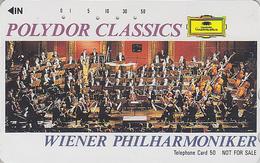 Télécarte Japon / 110-80055 - MUSIQUE - Orchestre - WIENER PHILHARMONIKER - Japan Music Phonecard -  AUSTRIA Rel / NFS - Musik