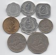 East Caribbean States : Série De 8 Pièces 1965-2004 - Monnaies