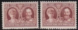 Newfoundland      .    SG    .      166/166a        .        *     .       Ongebruikt  .   /   .    Mint-hinged  VVLH - Newfoundland
