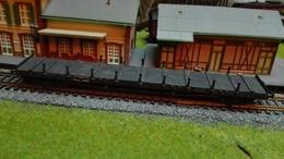 HO, SMCF, Wagon Plat à Ridelles SNCF - Wagons Marchandises