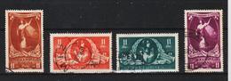 1951,  Centenaire De La Mort Du Peintre C.D.Rosenthal Mi No 1268/1271 Et Yv No 1156/1159