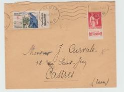 1935 - ENVELOPPE Avec TYPE PAIX DE CARNET Avec BANDE PUB CHAMPAGNE MOET ET CHANDON + VIGNETTE ANTITUBERCULOSE - 1921-1960: Periodo Moderno