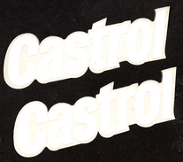 Castrol 2 Autocollants - Stickers