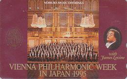 Télécarte Japon / 110-011 - MUSIQUE - WIENER PHILHARMONIKER & ORGUE Orgel Organ - Japan Phonecard AUSTRIA Rel - Musik