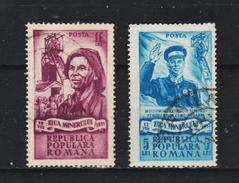 1951,  JOURNÉE DES MINEURS,  MI No 1272/1273 Et Yv No 1162/1163