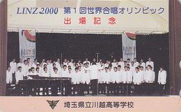 Rare Télécarte Japon / 110-016 - MUSIQUE - CHOROLYMPIADE IN LINZ / Österreich - Japan Music Phonecard AUSTRIA Rel - Musik