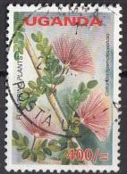 1855 Uganda 2005 Fiori Flowers Calliandra Haematocephala Flowering Plants