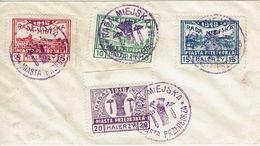 PRZEDBORZ Enveloppe Souvenir Série 15 à 18 (Mi) En Halerzy - Dentelée 11,50 - Brieven En Documenten