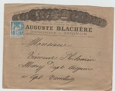 1893 - ENVELOPPE ILLUSTREE (DISTILLATEUR) D'AVIGNON (VAUCLUSE) Avec TYPE SAGE - Storia Postale