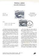 NOTICE PTT 1980 PEINTURE DE RAOUL UBAC - Documents Of Postal Services