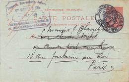 Carte Postale- Entier Postal 10c Semeuse - Cachet Sellerie Bourellerie Vve SERRE & FILS - MOUSINS S/ ALLIER - DOUAI - Postal Stamped Stationery