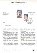 NOTICE PTT 1980 CATHEDRALE DU PUY HAUTE LOIRE - Postdokumente