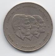 République Dominicaine : 1/2 Peso 1986 : Commémorative Droits De L'Homme (Diamètre : 30 Mm) - Dominicana