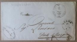 Prefilatelia - 1861 - Da Monte Urano A Porto S. Giorgio - Annullo Rotondo - Italia
