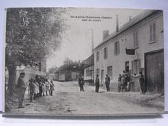 80 - SAINT AUBIN MONTENOY - CAFE DU CENTRE - ANIMEE - 1934 - Autres Communes