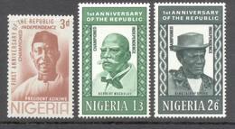 Nigeria 19704 - Michel 153 - 155 *