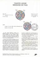 NOTICE PTT 1980 MESSAGE DE PAIX DE AGAM - Documents Of Postal Services