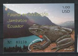 EC - 2002 - BLOCK 168 -  Frogs - FROSCH - - ** -MNH - POSTFRISCH - Equateur