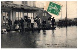78 - EPONE -- Inondation - Janvier 1910 - Hôtel De La Gare - Epone